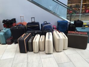 Soroptimist International of Kansas City Northland collects suitcases every year for women and children in shelters.